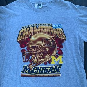 Nutmeg Michigan 1997 Big Ten Champs Tee Size XL